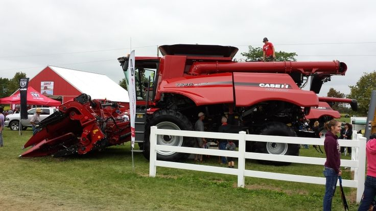 Case IH Axial-Flow Combine at the Outdoor Farm Show in Woodstock