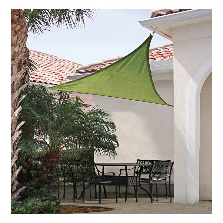 Shelter Logic Triangle Sun Shade Sail Lime Green 16' 230 gsm
