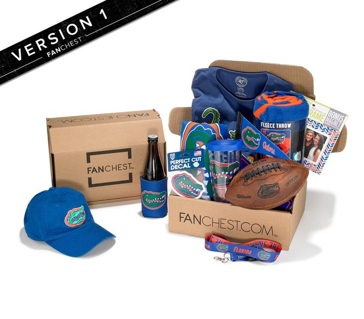 gators gift florida gifts box gator fanchest boxes fans gear iv