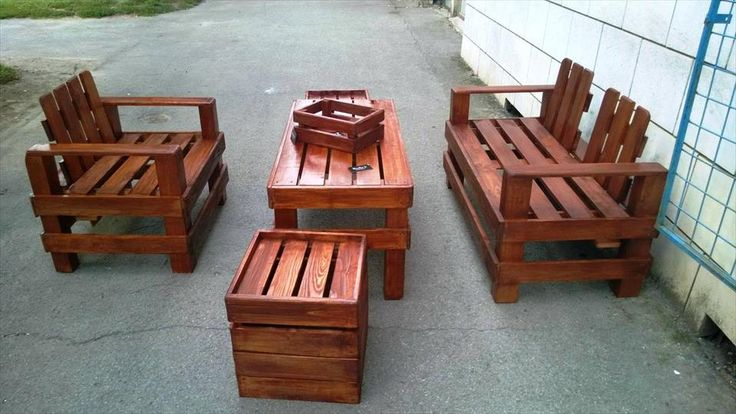Gorgeous Pallet Outdoor Furniture Set | 99 Pallets