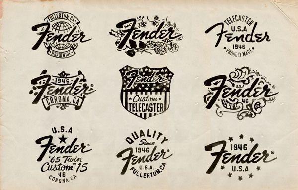 Fender by Glenn Wolk, via Behance