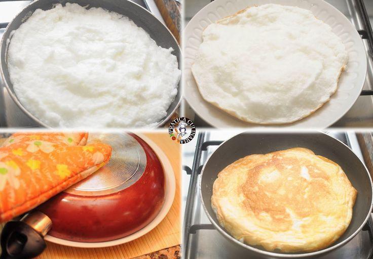"""Condividi La pizza d'uovo è una sorta di """"pizza"""" in cui l'impasto di base è sostituito da un battuto d'albume. E' un piatto light, a patto che la farcitura non sia molto grassa, ed è perfetto per chi soffre di celiachia. Ho conosciuto la """"Pizza d'uovo"""" attraverso il cooking show dell'allevatore Paolo Parisi durante la …"""