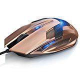 CSL - SCORPION USB Wired Mouse (Copper-Look) | optische USB Maus (kabelgebunden) | High Precision | reaktionsschnell | ergonomisches Design | 6 Tasten | vergoldete Stecker | Plug & Play | Windows 10 fähig