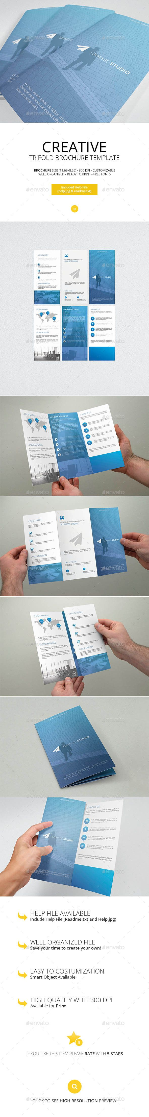 Creative Trifold Brochure Template #design Download: http://graphicriver.net/item/creative-trifold-brochure-template/13229578?ref=ksioks