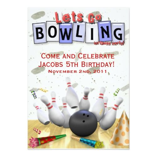49 best Papery images on Pinterest Bowling party, Birthday - bowling flyer template free