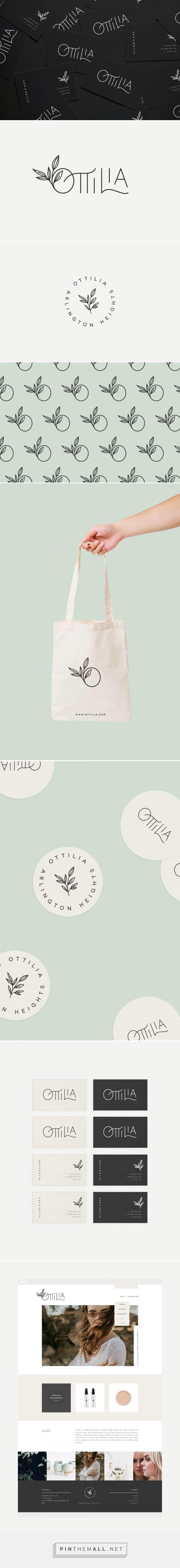 Ottilia Skincare Shop Branding by Rowan Made