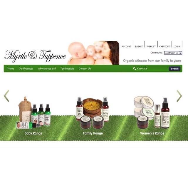 Website design www. Myrtleandtuppence.com.au