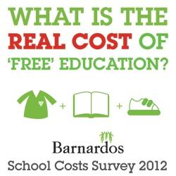 Barnardos School Costs Survey 2012: full results available at: http://www.barnardos.ie/pages/2012school-survey-infograph.html