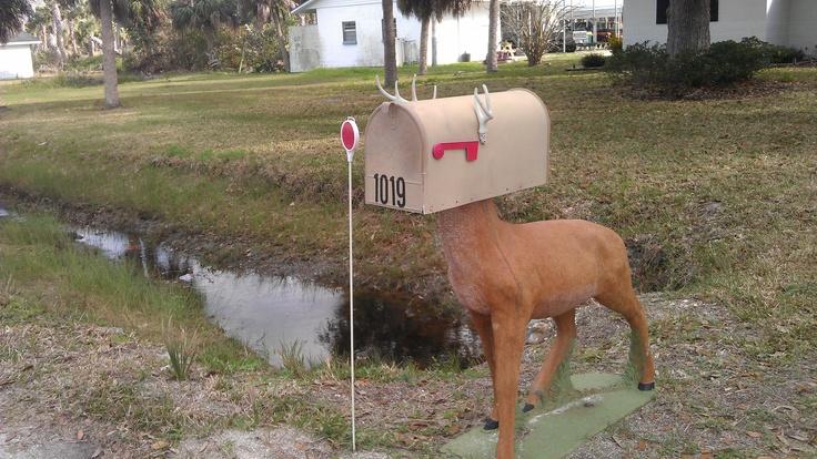 Deer mailbox really pinterest deer