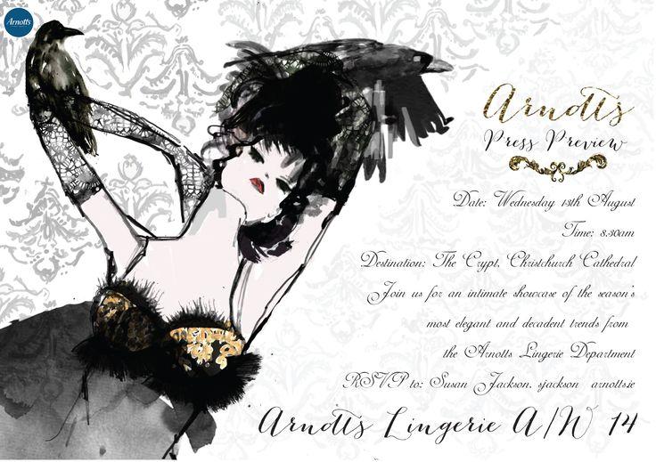 lingerie show arnotts illustration