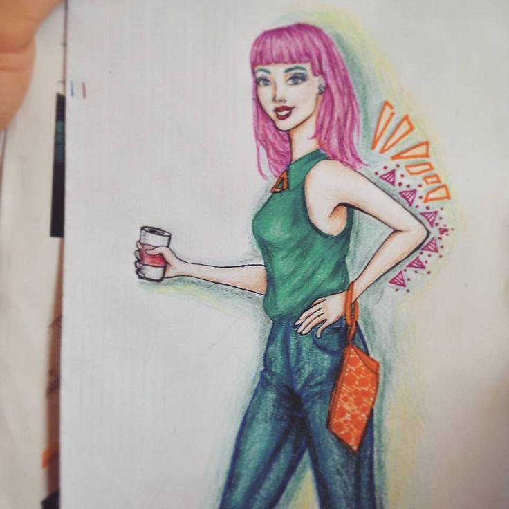Hello Pinky #streetwear #streetfashion #drawing #art #trend