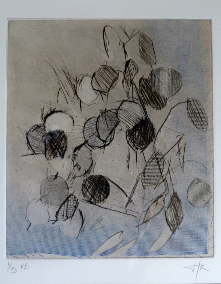 Honesty drypoint  -  Helen Kennedy