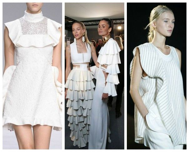 Ruffles are huge (literally) this season: shirts, dresses, skirts, even trousers (as seen at Balmain)... go wild!