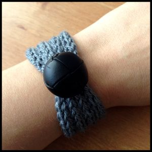 French knitted bracelet  Knitting spool