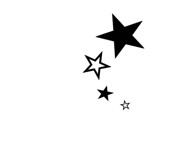 Simple Tattoo Designs for Girls | Free designs - Black and white stars wallpaper I would like hearts
