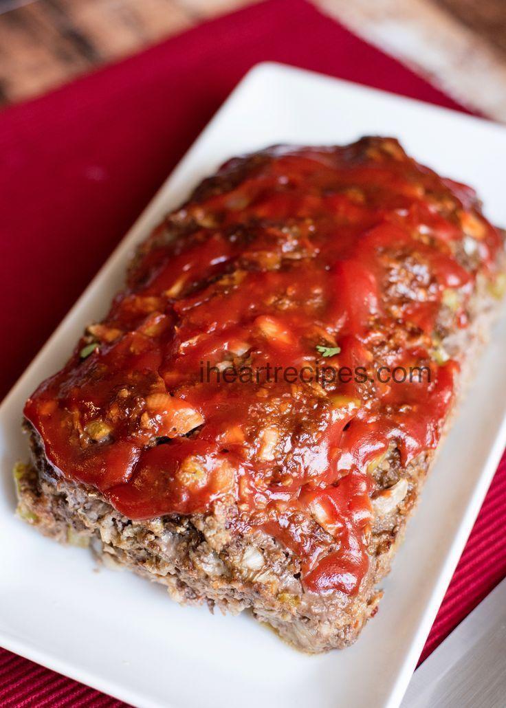 Easy Meatloaf Recipe Easy Meatloaf Basic Meatloaf Recipe Meat Loaf Recipe Easy