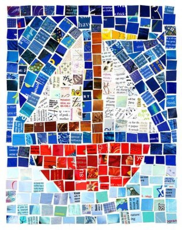 mosaic with magazine pages?