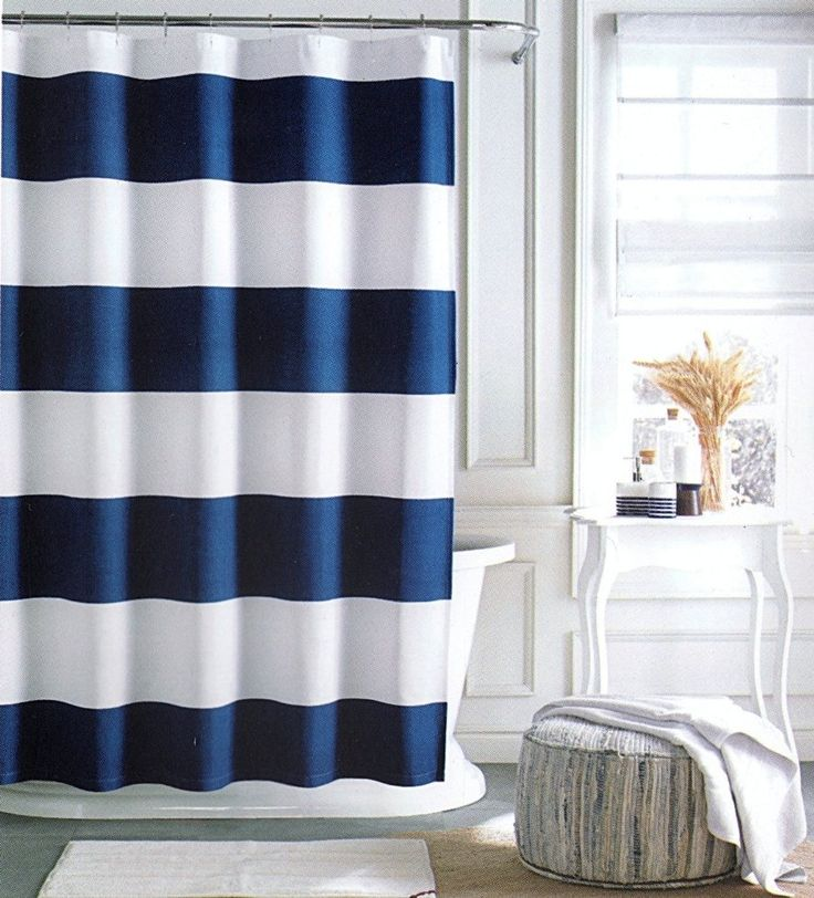 Royal Blue Bathroom Window Curtains
