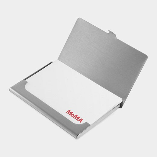 Muji stainless steel business card case moma wish list for Muji business card holder