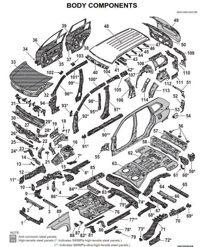 Mitsubishi Outlander XL 2013 Body Repair Manual (For