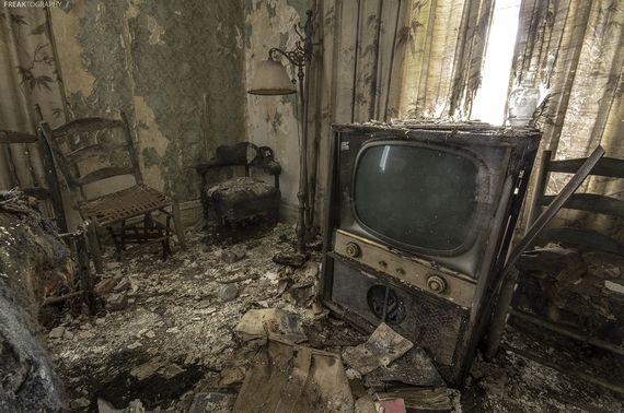 Interior of abandoned house near Winnipeg, Canada