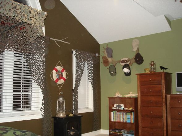 Outdoor Camo Room, An Outdoor Theme With A Splash Of Nautical Hidden With  Camo Netting