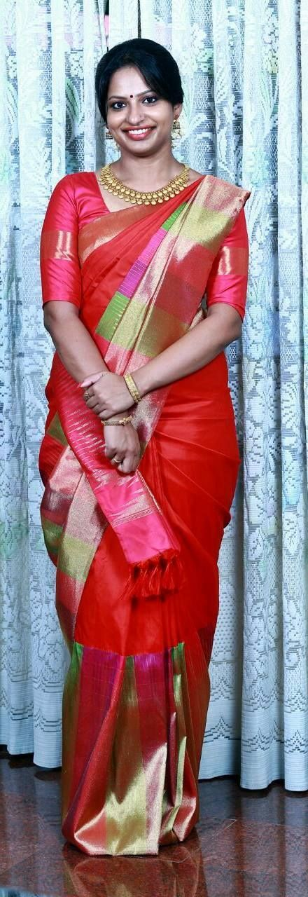 Bride in kanchi signature collection .. Kanchi signature collection saree .. https://www.facebook.com/Kanchi-Signature-Collection-353807514697160/timeline/