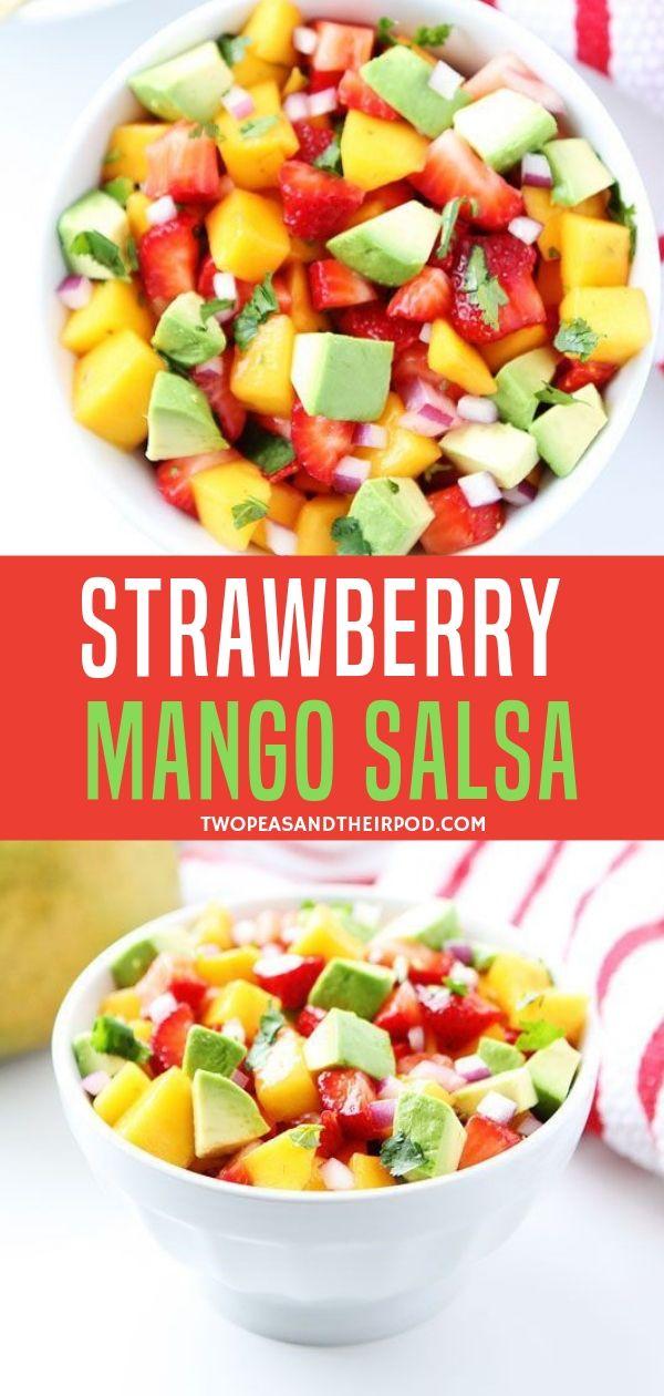 Strawberry Mango Salsa Mango Salsa Recipes Easy Salsa Recipe Salsa Recipe