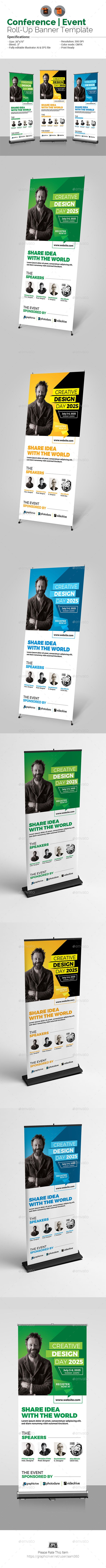 Conference Roll-Up Banner Template by aam360 Similar Templates:INFORMATIONS FOR ...