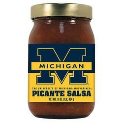 Michigan Wolverines NCAA Picante Salsa - 16oz