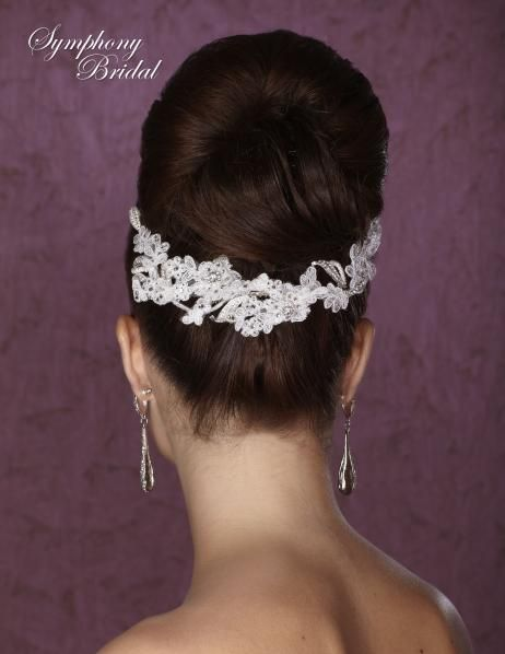 Symphony Bridals for a beautiful re-embroidered lace headband!