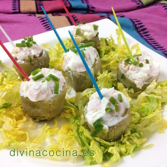 Mini alcachofas rellenas frías » Divina CocinaRecetas fáciles, cocina andaluza y del mundo. » Divina Cocina