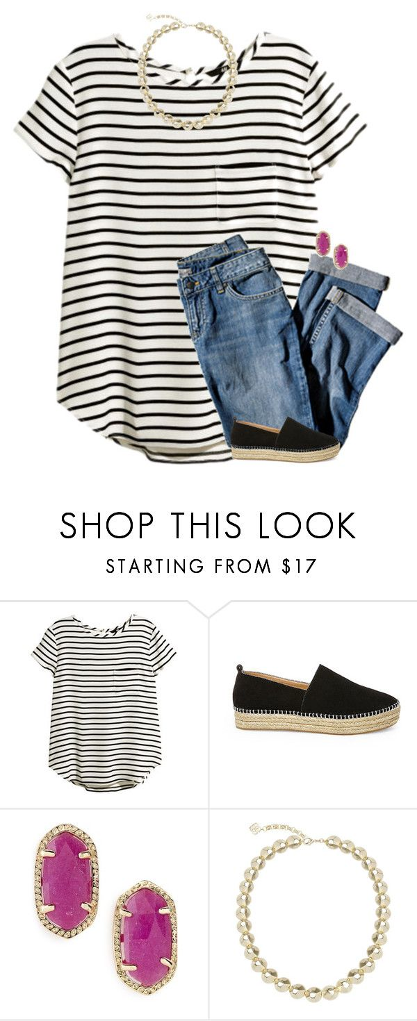I love this because i have striped shirts but they're all long sleeved.  I also love the Kendra Scott earrings which I have but not in pink or studs.  Would love to have them!