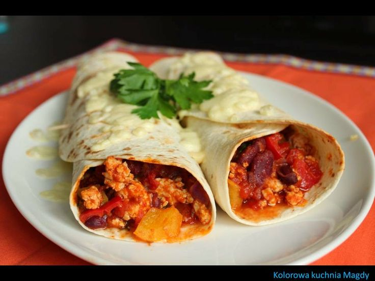 Kolorowa Kuchnia Magdy: Dietetyczne burrito
