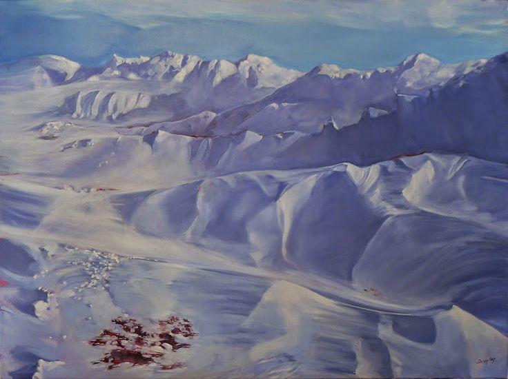 Winter Lambing, 48X36, oil on linen, by Carol L. Douglas.