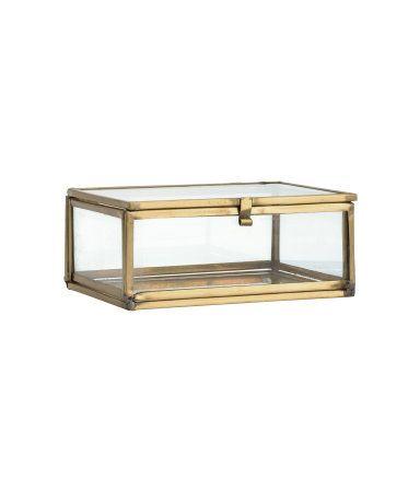 Liten ask i klarglas | Guld | H&M HOME | H&M SE