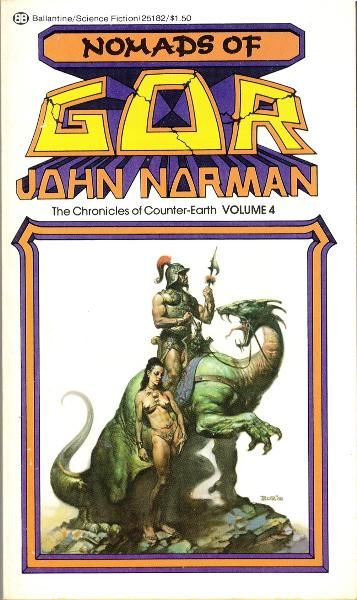 BORRIS VALLEJO - Nomads of Gor (The Chronicles of Counter-Earth Vol 4) by John Norman - 1976 Ballantine Books