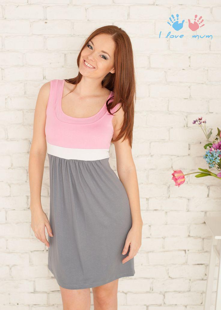 Платье для беременных 963-372 розовый