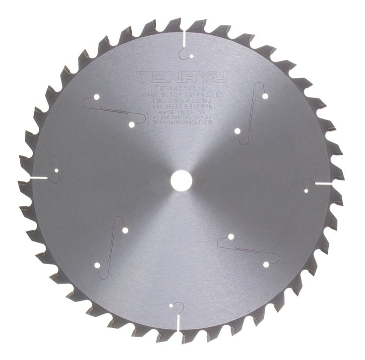 """Tenryu IW-25540CB1 10"""" Miter Saw General Purpose Blade 40 T 5/8 Arbor >>> Read more reviews of the product by visiting the link on the image."""