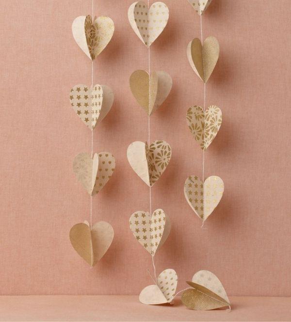 Valentinstag Deko Ideen Herz Girlande