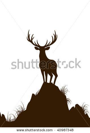 Deer. Vector illustration. by ussr, via Shutterstock