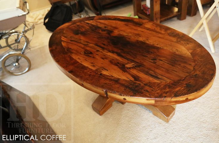 Cambridge, Ontario Reclaimed Wood Coffee Table by HD Threshing Floor Furniture  www.hdthreshing.com Email directly at rw@table.ca