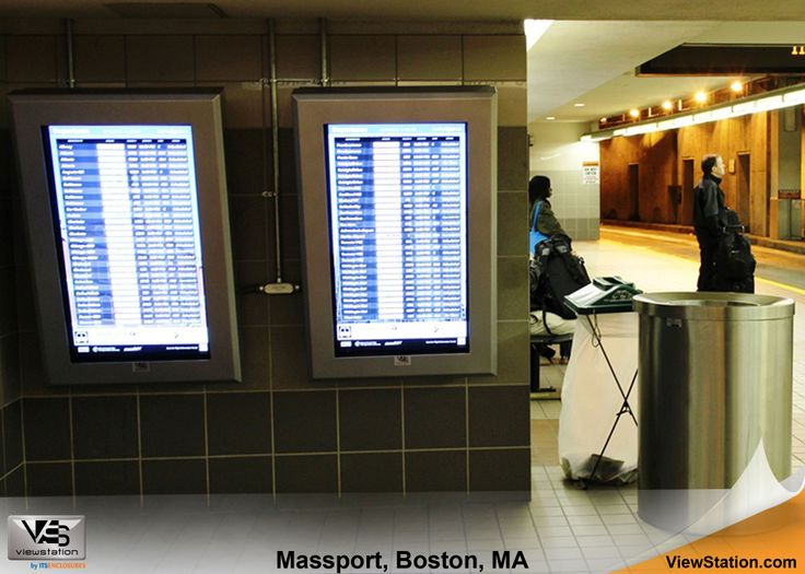 Massport at Logan Airport Boston MA - ViewStation with Thermal Management & Mounting Options by ITSENCLOSURES #ViewStation
