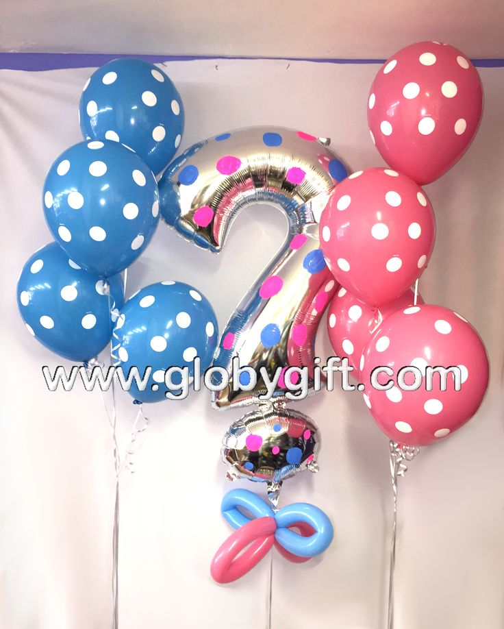Globos para decorar fiesta de revelación de sexo del bebé / Balloon decorations for gender reveal party