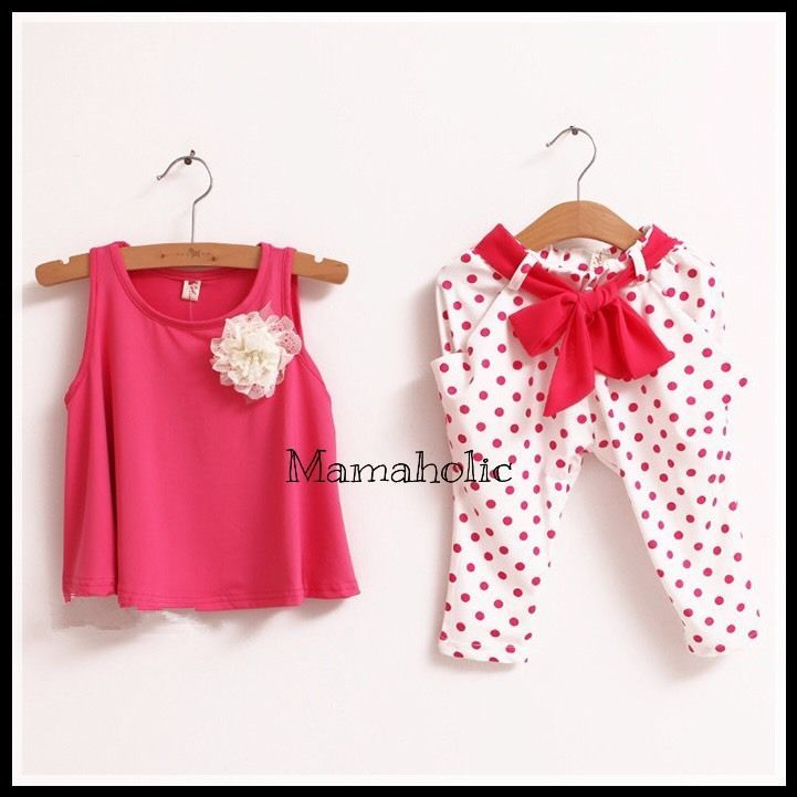 Girls Pink Singlet & Harem Pants Summer Set (2pcs), Girls Outfit, 4 Years