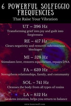 The solfeggio frequencies can enhance your intuition, deprogram negative beliefs, and increase feelings of love. Amazing! via @LonerWolf