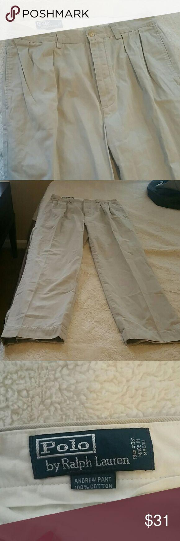 Polo Ralph Lauren Andrew Pant Khaki Trousers Chino --Like New Andrew Pant --Polo by Ralph Lauren  --Khaki Trousers  --Labels shown in photo Polo by Ralph Lauren Pants Chinos & Khakis