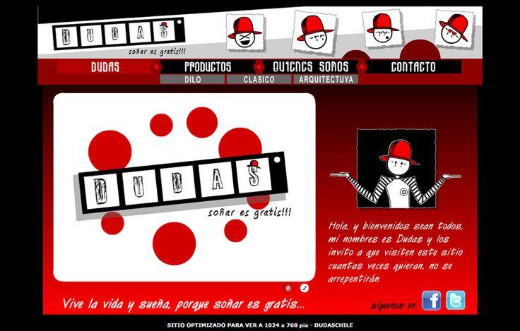 Sitio we desarrollado en flash para Dudas Chile