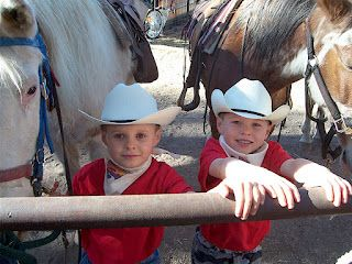 Jedidiah and Jeremiah Duggar  at the Geronimo Trail Guest Ranch in 2006