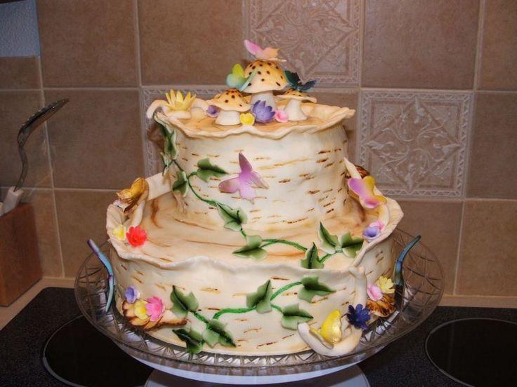 65 Best Tree Bark Cake Images On Pinterest Cake Wedding Conch - Wedding Cake Tree Bark
